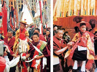 Le jeune 17ème Karmapa au monastère de Tsourpou